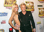 Violinist Lydia Ansel and entertainer Chris Phillips  'Zowie Bowie'  arrive at the Vegas Rocks! Magazine Music Awards 2013 at the Joint inside the Hard Rock Hotel & Casino in Las Vegas, Nevada