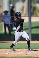 Chicago White Sox Lenyn Sosa (1) during an Instructional League game against the San Francisco Giants on October 10, 2016 at the Camelback Ranch Complex in Glendale, Arizona.  (Mike Janes/Four Seam Images)