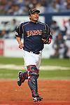 Shinnosuke Abe (JPN), .February 26, 2013 - WBC : .2013 World Baseball Classic, Exhibithion Game .match between Japan 0-1 Hanshin Tigers  .at Kyocera Dome, Osaka, Japan..(Photo by AJPS/AFLO SPORT)