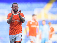 Blackpool's Jay Spearing applauds the fans at the final whistle<br /> <br /> Photographer Chris Vaughan/CameraSport<br /> <br /> The EFL Sky Bet League One - Coventry City v Blackpool - Saturday 7th September 2019 - St Andrew's - Birmingham<br /> <br /> World Copyright © 2019 CameraSport. All rights reserved. 43 Linden Ave. Countesthorpe. Leicester. England. LE8 5PG - Tel: +44 (0) 116 277 4147 - admin@camerasport.com - www.camerasport.com