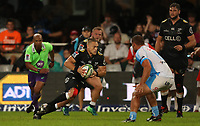 DURBAN, SOUTH AFRICA - APRIL 14: Cameron Wright of the Cell C Sharks during the Super Rugby match between Cell C Sharks and Vodacom Bulls at Jonsson Kings Park Stadium on April 14, 2018 in Durban, South Africa. Photo: Steve Haag / stevehaagsports.com