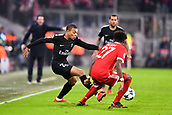 December 5th 2017, Allianze Arena, Munich, Germany. UEFA Champions league football, Bayern Munich versus Paris St Germain;  29 KYLIAN MBAPPE (psg)takes on Alaba of Bayern