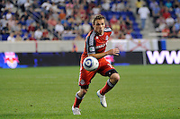 Matt Stinson (15) of Toronto FC. The New York Red Bulls defeated Toronto FC 5-0 during a Major League Soccer (MLS) match at Red Bull Arena in Harrison, NJ, on July 06, 2011.