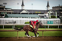 LOUISVILLE, KY - MAY 03: Classic Empire with Martin Rivers gallops at Churchill Downs on May 03, 2017 in Louisville, Kentucky. (Photo by Alex Evers/Eclipse Sportswire/Getty Images)