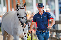 USA-McLain Ward presents Clinta during the 2nd Horse Inspection for the FEI World Individual Jumping Championships. 2018 FEI World Equestrian Games Tryon. Saturday 22 September. Copyright Photo: Libby Law Photography