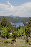 Wade Lake is seen from the south in Beaverhead-Deerlodge National Forest.