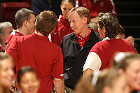 10 November 2005: John Dunning during Stanford's 3-0 win over Arizona State at Maples Pavilion in Stanford, CA.