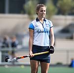 AMSTELVEEN - Charlotte Adegeest (Hurley). Hoofdklasse competitie dames, Hurley-HDM (2-0) . COPYRIGHT KOEN SUYK