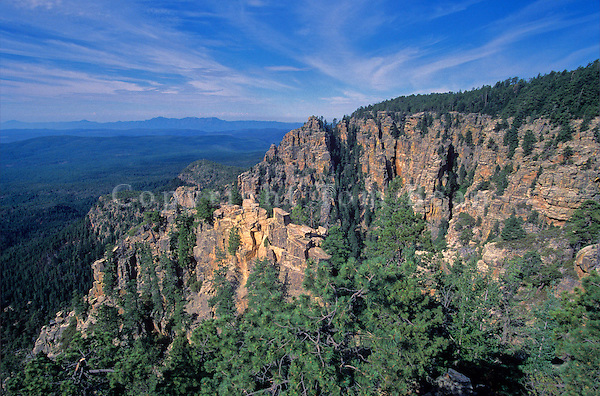 Mogollon Rim Country Viewed From Above the Tonto Basin, Coconino National Forest, Arizona, AGPix_0156.