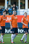 Luton Town 6 Kidderminster Harriers 0, 28/12/2013. Kenilworth Road, Football Conference. A bumper Christmas crowd packs in to Luton's old stadium with hope that this will be their year to return to the Football League.  Luton defender Steve McNulty.  Photo by Simon Gill.