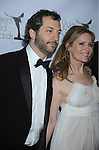 CENTURY CITY, CA. - February 20: Judd Apatow and Leslie Mann  arrive at the 2010 Writers Guild Awards at the Hyatt Regency Century Plaza Hotel on February 20, 2010 in Los Angeles, California.