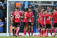 Tyler Walker of Lincoln City is congratulated after scoring the first goal during Ipswich Town vs Lincoln City, Emirates FA Cup Football at Portman Road on 9th November 2019