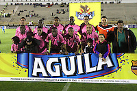 TUNJA - COLOMBIA -18 -07-2016: Los jugadores de Boyaca Chico FC, posan para una foto durante partido Boyaca Chico FC y Jaguares FC, de la fecha 4 de la Liga Aguila II-2016, jugado en el estadio La Independencia de la ciudad de Tunja. / The players of Boyaca Chico FC, pose for a photo during a match Boyaca Chico FC and Jaguares FC, for the date 4 of the Liga Aguila II-2016 at the La Independencia  stadium in Tunja city, Photo: VizzorImage  / Cesar Melgarejo / Cont.