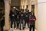 WATERBURY, CT. 01 January 2019-010119 - Din Spataj of Waterbury, right, leads a group of muslims in prayers during a peaceful protest of the Boards management of the Mosque at Masjid Al Mustafa in Waterbury on Tuesday. Bill Shettle Republican-American