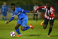 Joshua Hutchinson of Redbridge and Youseuf Bello of Clapton during Redbridge vs Clapton, Essex Senior League Football at Oakside Stadium on 14th November 2017