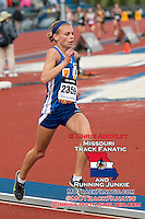 Francis Howell sophomore Maddi Leigh runs to a personal record fo 10:55.47 to place third in the 3200-meters at the 2015 Kansas Relays.