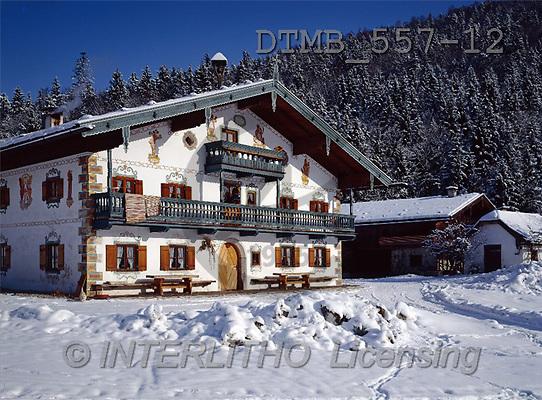 Gerhard, CHRISTMAS LANDSCAPE, photos, Bayern.Bauernhof im Berchtesgadener L(DTMB557-12,#XL#) Landschaften, Weihnachten, paisajes, Navidad