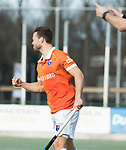WASSENAAR - Hoofdklasse hockey heren, HGC-Bloemendaal (0-5). Roel Bovendeert (Bldaal) heeft gescoord.    COPYRIGHT KOEN SUYK