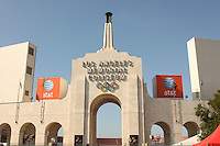 LOS ANGELES, CA - NOVEMBER 14:  The Coliseum during Stanford's 55-21 win over the USC Trojans on November 14, 2009 at the Los Angeles Coliseum Stadium in Los Angeles, California.