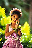 Young Gabrielle from Halau Hula O Hokulani, Honolulu, Hawaii