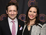 Bradley King and wife attends The 69th Annual Outer Critics Circle Awards Dinner at Sardi's on May 23, 2019 in New York City.