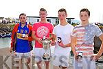 The Valentia Senior Men's crew who took gold at the Cahersiveen Regatta on Sunday pictured l-r; Paul O'Sullivan, Michael O'Sullivan, Sean Moran & Darren Houlihan, Cox was Dermot Walsh.