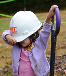 "But the hardhat was ""a few"" sizes too big for the young worker."