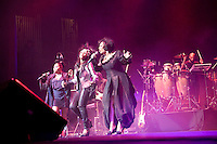 "NEW YORK - FEB 26 : The group ""Labelle"" performs at The Beacon Theater  on Thursday, February 26, 2009, in New York City. (Photo by Landon Nordeman) The group, led by singer Patti Labelle, was formed in 1961 and includes Nona Hendryx and Sarah Dash."