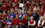 VERMILLION, SD, APRIL 2:  Fans from Florida Gulf Coast support their team in a sea of red against the University of South Dakota during the WNIT Championship game Saturday afternoon at the Dakota Dome in Vermillion, S.D. (Photo by Dave Eggen/Inertia)