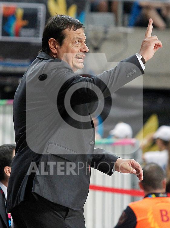 Turkey's coach Ergin Ataman during 2014 FIBA Basketball World Cup Quarter-Finals match.September 9,2014.(ALTERPHOTOS/Acero)