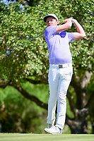 Cameron Smith (USA) watches his tee shot on 2 during round 4 of the Valero Texas Open, AT&amp;T Oaks Course, TPC San Antonio, San Antonio, Texas, USA. 4/23/2017.<br /> Picture: Golffile | Ken Murray<br /> <br /> <br /> All photo usage must carry mandatory copyright credit (&copy; Golffile | Ken Murray)