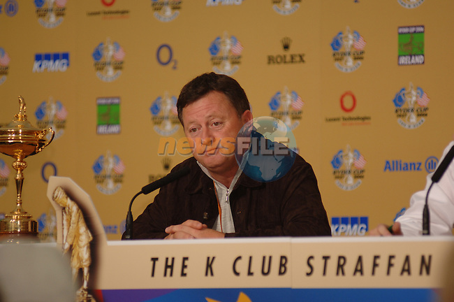 18th September, 2006. Dublin Ireland. Ryder Cup press Conference at the K club..European Ryder cup team captain Ian Woosnam gives a press conference at the above..Photo: Barry Cronin/ Newsfile.<br />