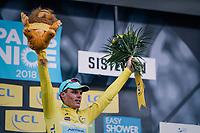 overall leader Luis Leon Sanchez (ESP/Astana)<br /> <br /> 76th Paris-Nice 2018<br /> stage 5: Salon-de-Provence &gt; Sisteron (165km)