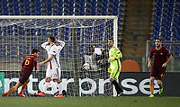 Football Soccer: Europa League Round of 16 second leg, Roma-Lyon, stadio Olimpico, Roma, Italy, March 16,  2017. <br /> Roma's Kevin Strootman celebrates after scoring during the Europe League football soccer match between Roma and Lyon at the Olympique stadium, March 16,  2017. <br /> Despite losing 2-1, Lyon reach the quarter finals for 5-4 aggregate win.<br /> UPDATE IMAGES PRESS/Isabella Bonotto