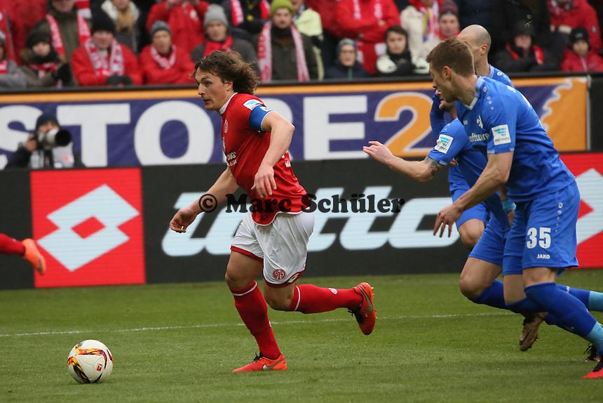 Julian Baumgartlinger (Mainz) gegen Slobodan Rajkovic (Darmstadt) - 1. FSV Mainz 05 vs. SV Darmstadt 98, Coface Arena
