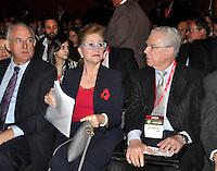 SAO PAULO, SP, 06 DE AGOSTO 2012 – 13 ENCONTRO INTERNACIONAL DE ENERGIA - Os ex ministros Nelson Jobin, Ellen Gracie e Sydney Sanches ex presidentes durante abertura do 13º Encontro Internacional de Energia, realizado no inicio da tarde de hoje no Hotel Unique, na capital. O encontro promove um debate sobre legalidade  de concessões do setor eletrico. (FOTO: THAIS RIBEIRO / BRAZIL PHOTO PRESS).