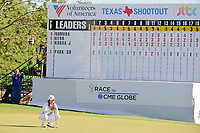 Haru Nomura (JPN) looks over her birdie putt that will force a tie with Cristie Kerr (USA) and playoff holes during the Volunteers of America Texas Shootout Presented by JTBC, at the Las Colinas Country Club in Irving, Texas, USA. 4/30/2017.<br /> Picture: Golffile | Ken Murray<br /> <br /> <br /> All photo usage must carry mandatory copyright credit (&copy; Golffile | Ken Murray)
