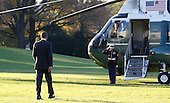 President Barack Obama walks across the South Lawn of the White House to Marine 1 as he departs the White House for a trip to South East Asia on November 17, 2012.  .Credit: Dennis Brack / Pool via CNP