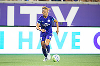 Orlando, Florida - Saturday, April 23, 2016: Orlando Pride defender Monica Hickman Alves (21) finds some space out wide during an NWSL match between Orlando Pride and Houston Dash at the Orlando Citrus Bowl.