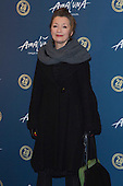 London, UK. 19 January 2016. Actress Lesley Manville. Celebrities arrive on the red carpet for the London premiere of Amaluna, the latest show of Cirque du Soleil, at the Royal Albert Hall.