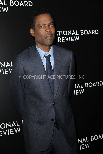 WWW.ACEPIXS.COM<br /> January 6, 2015 New York City<br /> <br /> Chris Rock attending the 2014 National Board of Review Gala at Cipriani 42nd Street on January 6, 2015 in New York City.<br /> <br /> Please byline: Kristin Callahan/AcePictures<br /> <br /> ACEPIXS.COM<br /> <br /> Tel: (212) 243 8787 or (646) 769 0430<br /> e-mail: info@acepixs.com<br /> web: http://www.acepixs.com