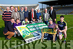 Paul Geaney and Tommy Dowling  at the launch of the Kerry GAA supporters Night of Champions which will be held in the Kingdom Greyhound track on June 16th front row l-r: Tim Murphy, Brendan Macgeailt, Eamon Fitzmaurice, Tomas and James O'Connor  back row: Joe Wallace, Finan fitzgerald   Con Griffin, Jim O'Connor,  Fintan O'Connor, Christy O'Connell,  Donal O'Leary,  Ger McCarthy Finan fitzgerald