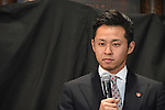 Kosuke Kitajima, <br /> JANUARY 8, 2016 : Japanese Olympic Committee (JOC) and their Official Partner Coca-Cola Japan hold a media conference at Tokyo Metropolitan Gymnasium in Tokyo, Japan. Coca-Cola Japan implemented the donation program for they set the first funding machine at Tokyo Metropolitan Gymnasium. (Photo by AFLO SPORT)