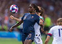 PARIS,  - JUNE 28: Viviane Asseyi #18 during a game between France and USWNT at Parc des Princes on June 28, 2019 in Paris, France.