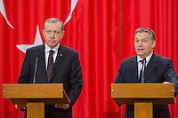 Recep Tayyip Erdogan Turkish PM visits Viktor Orban