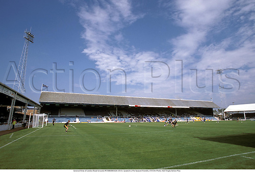 General View of London Road Ground, PETERBOROUGH UTD 0 v Ipswich 2, Pre-Season Friendly, 010729. Photo: Neil Tingle/Action Plus...2001 football soccer venue venues stadiums stadia stadion.united