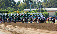 ARCADIA, CA APRIL 8: Start of the Santa Anita Derby (Grade l) on April 8, 2017 at Santa Anita Park in Arcadia, CA (Photo by Casey Phillips/Eclipse Sportswire/Getty Images)