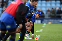 Anthony Watson of Bath Rugby looks on during the pre-match warm-up. Aviva Premiership match, between Exeter Chiefs and Bath Rugby on December 2, 2017 at Sandy Park in Exeter, England. Photo by: Patrick Khachfe / Onside Images