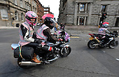 Breast Way Round - a group (which included some 150 men and women bikers clad mainly in Pink Bra's) set up by Shirley Ann Barnes to raise money for cancer charities - ended their round Scotland tour circling Glasgow's George Square - Picture by Donald MacLeod - 30.05.11 - 07702 319 738 - www.donald-macleod.com - clanmacleod@btinternet.com