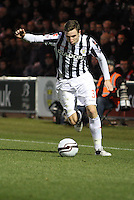 Paul Dummett in the St Mirren v Brechin City William Hill Scottish Cup Round 4 match played at St Mirren Park, Paisley on 1.12.12.